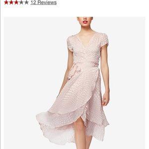 Betsey Johnson light blush pink polka dot dress